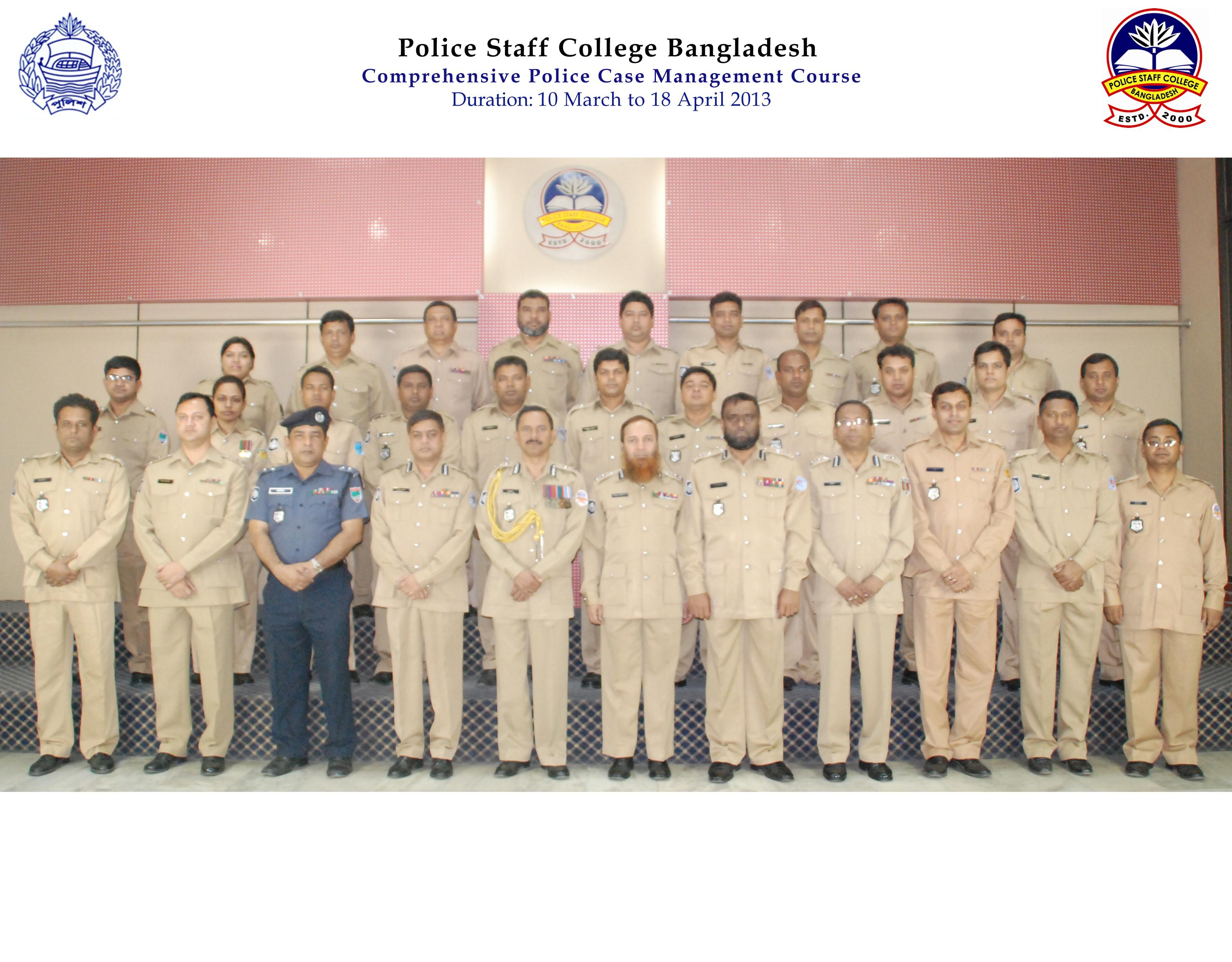 Participant of 1st Comprehensive Police Case Management Course