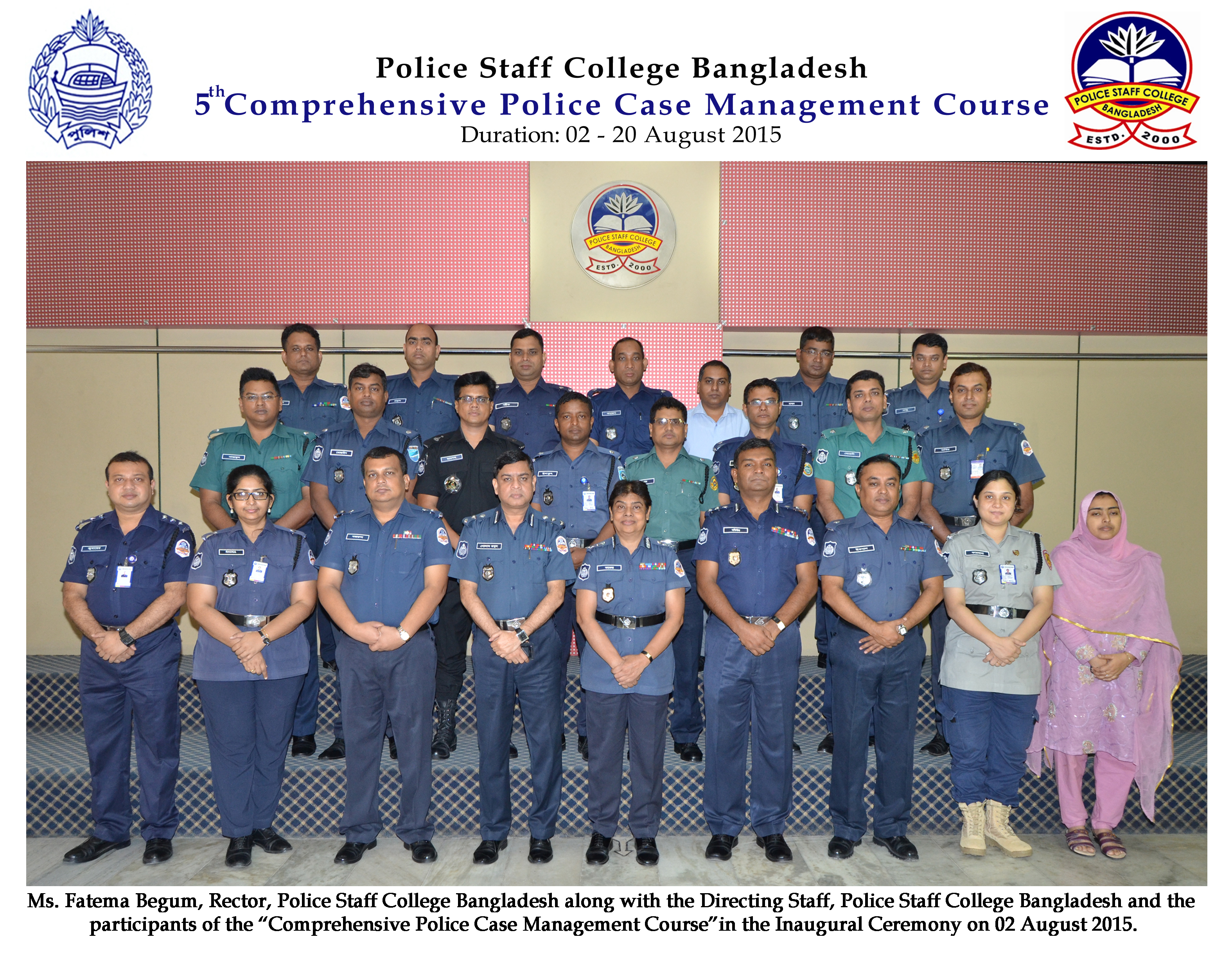Participant of 5th Comprehensive Police Case Management Course