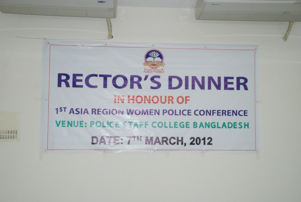 Rector's Dinner for 1st Asia Region Women Police Conference