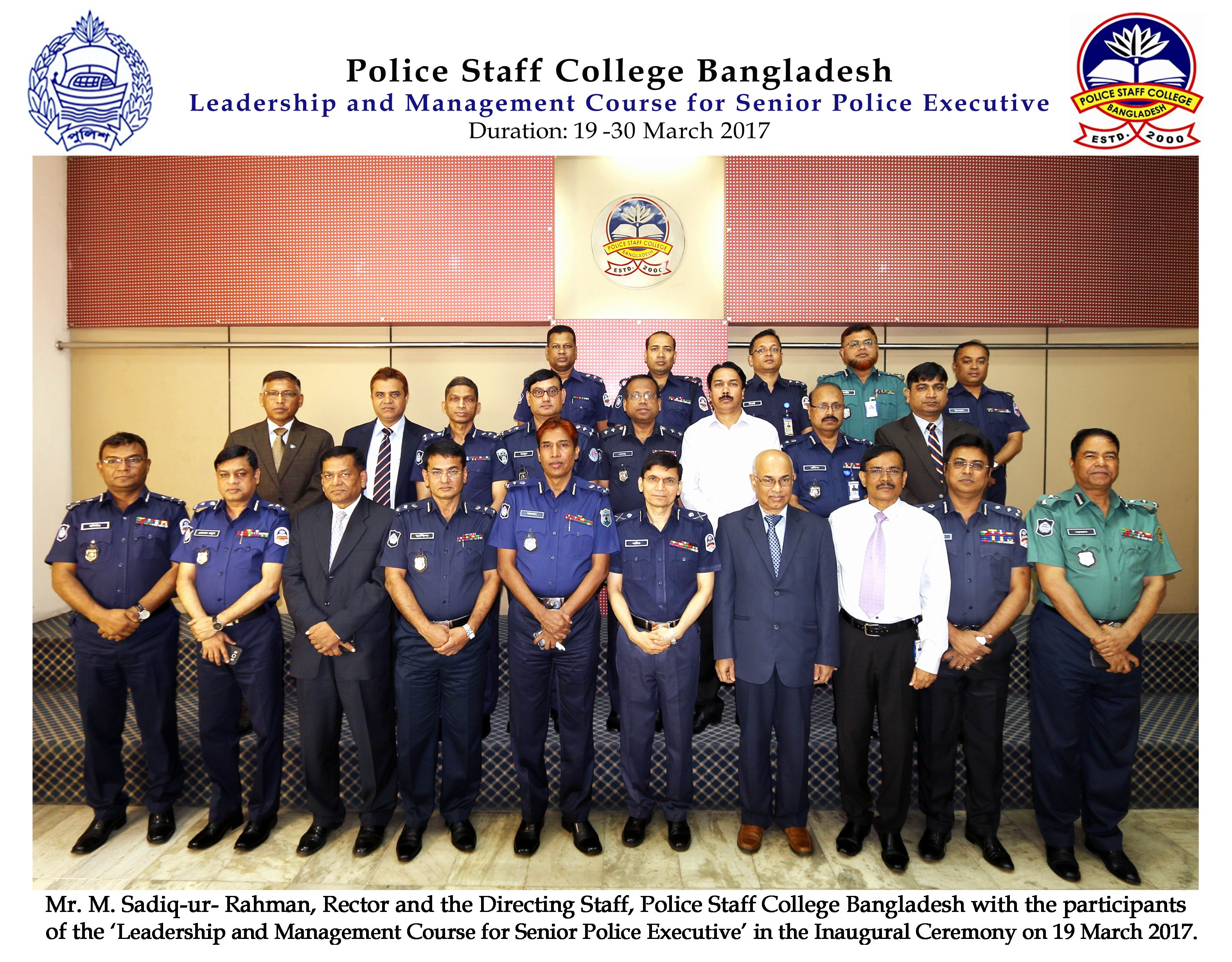 Participant of 2nd Leadership and Management Course for Senior Police Executive (DIG & Addl. DIG)