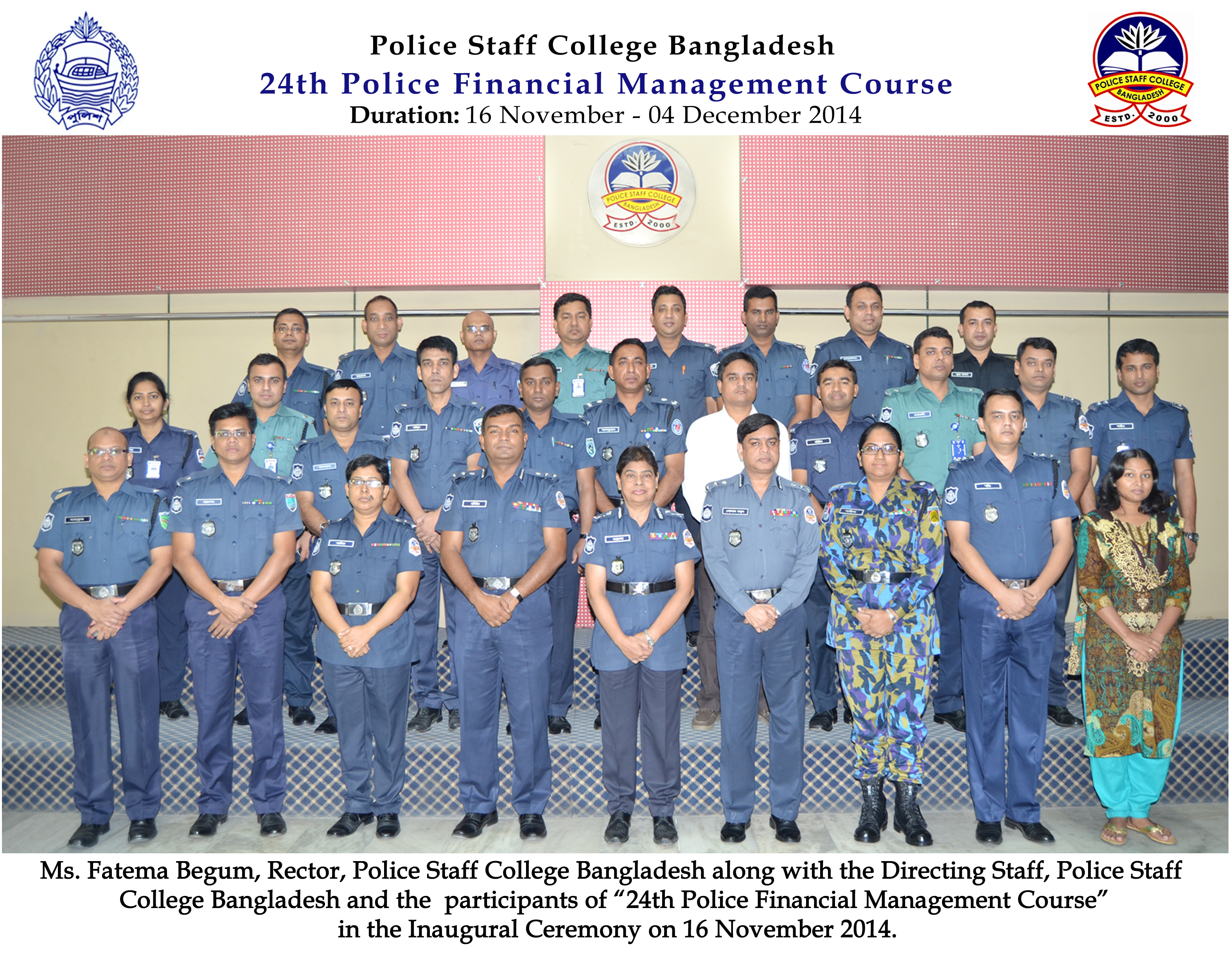 Participant of 24th Police Financial Management Certificate Course.