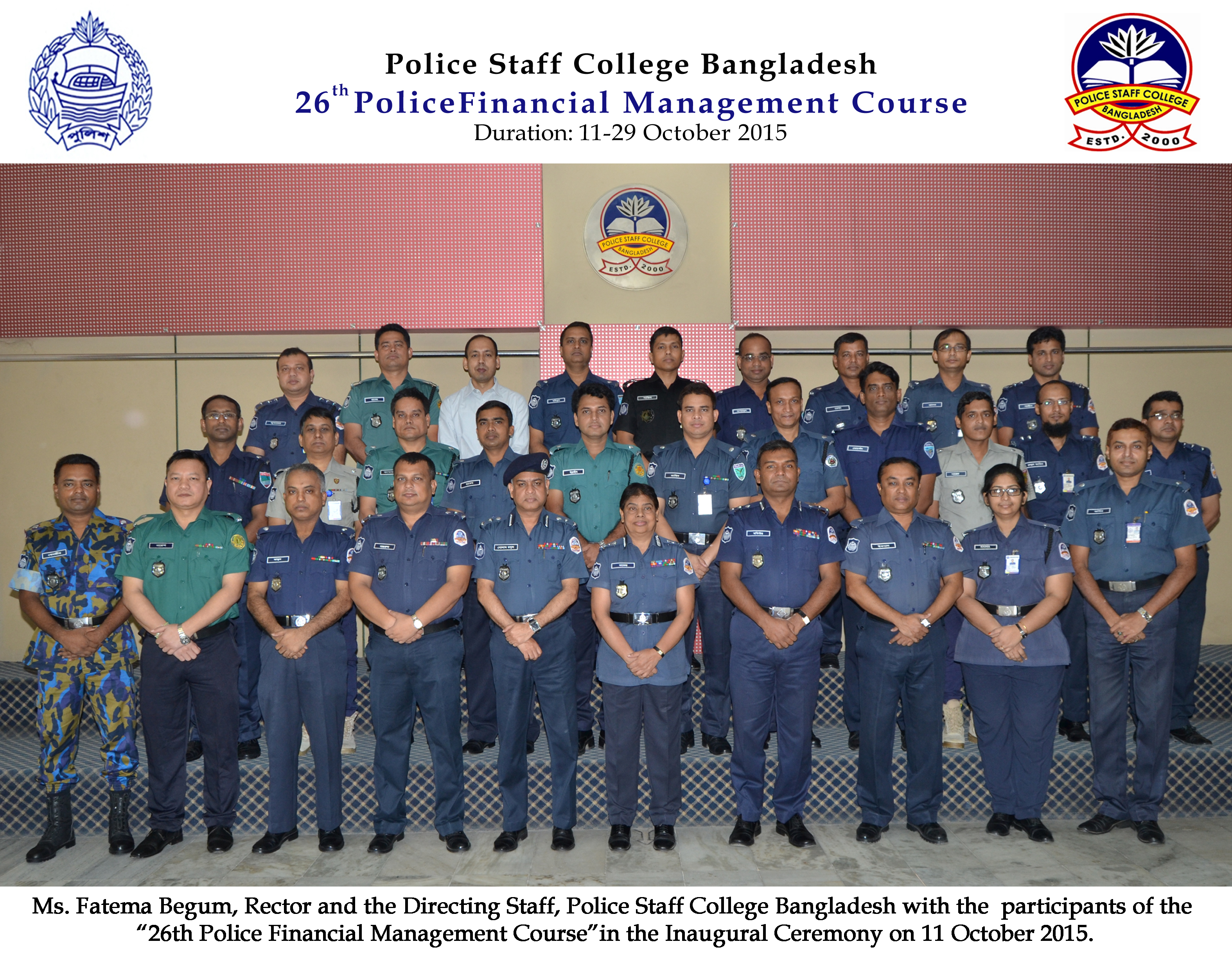 Participant of 26th Police Financial Management Course.