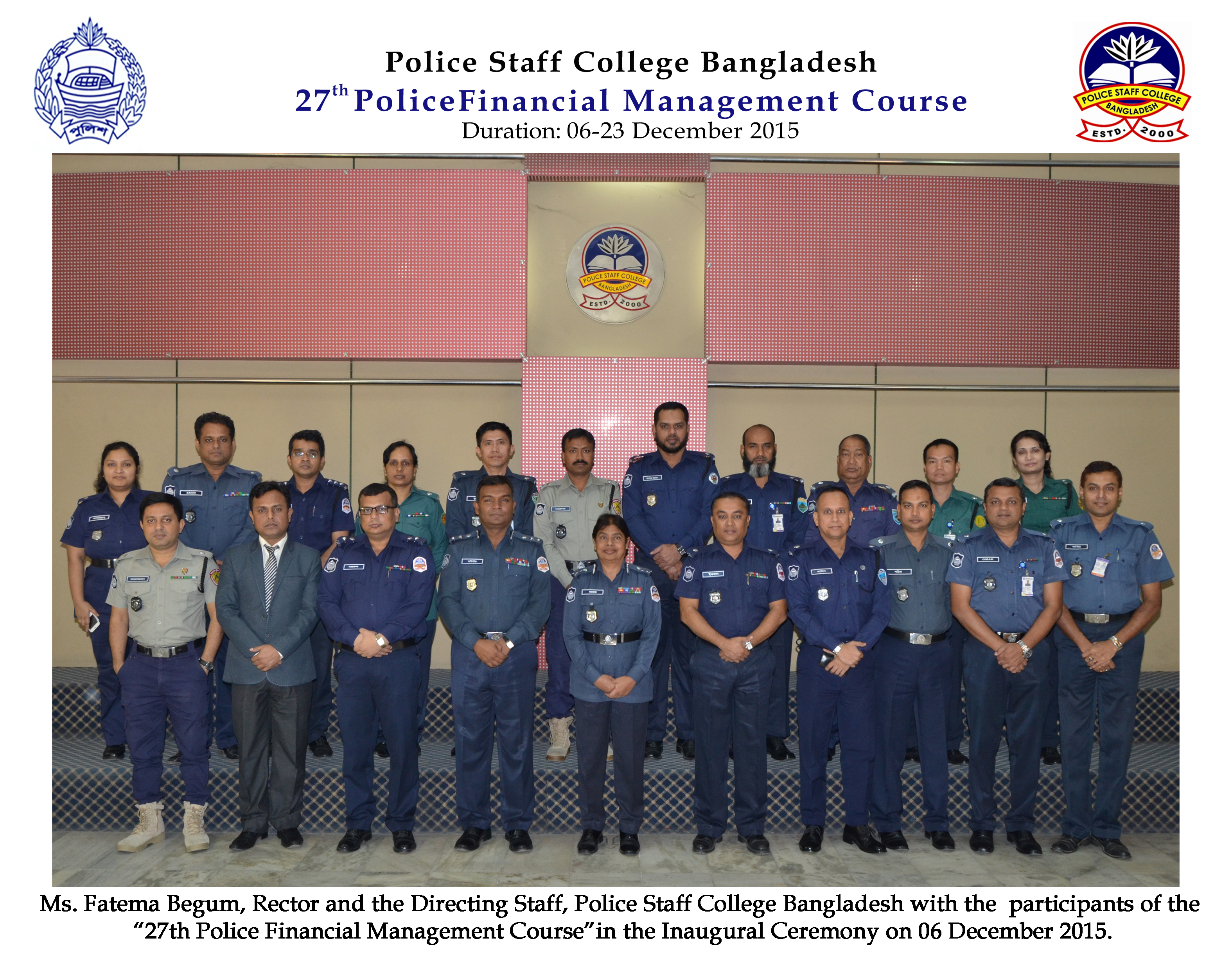 Participant of 27th Police Financial Management Course.