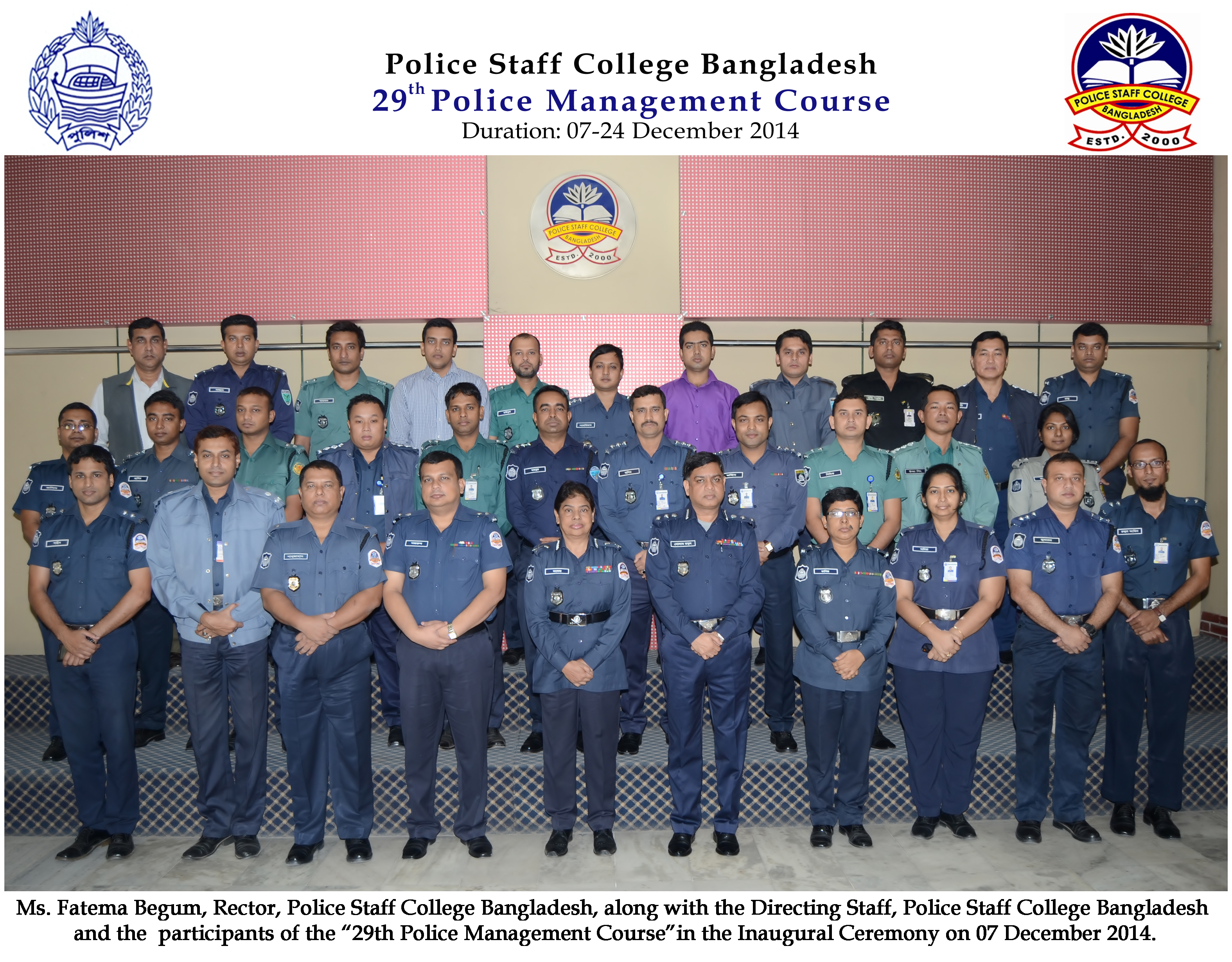 Participant of 29th Police Management Course.