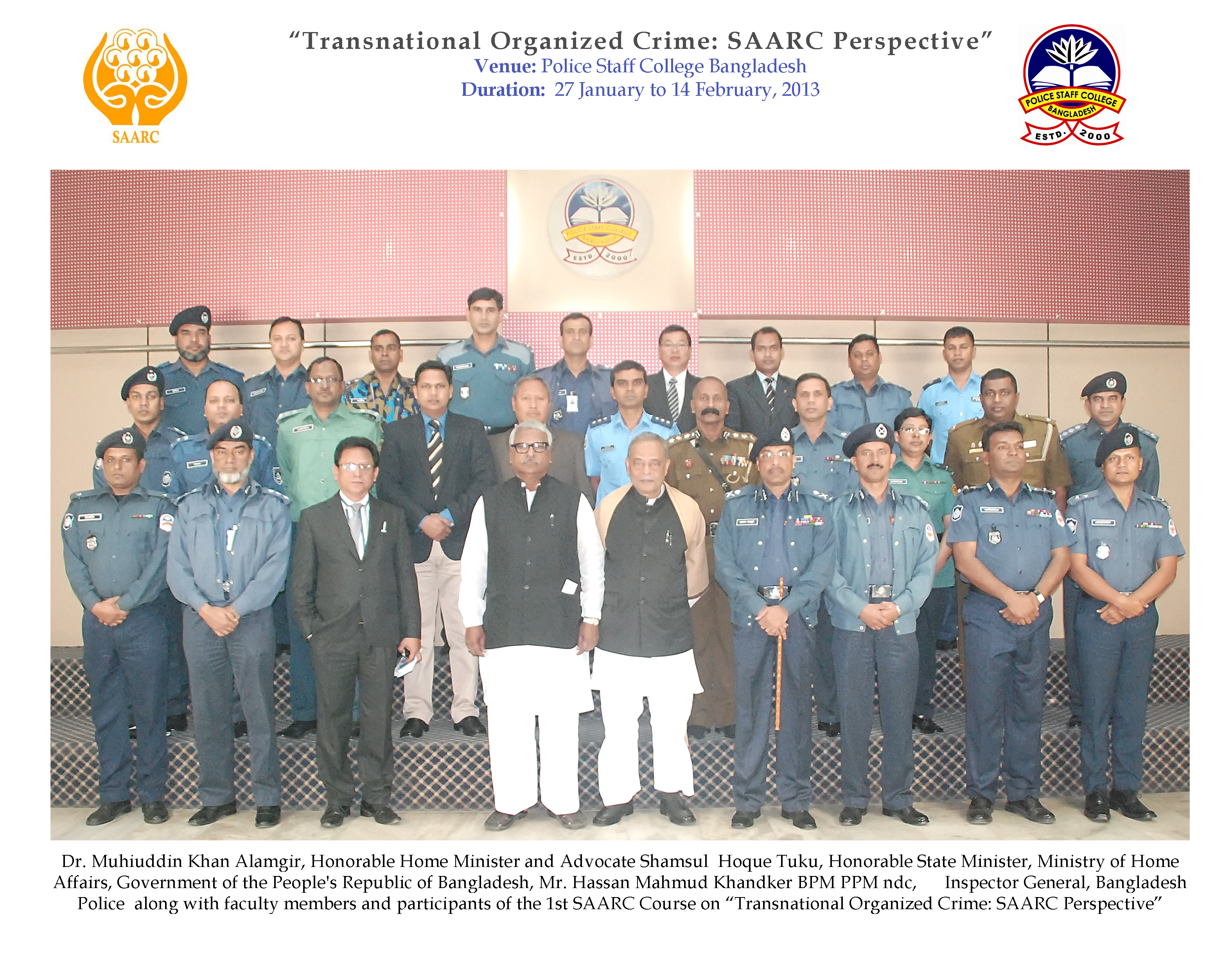 Participant of 1st Transnational Organized Crime: SAARC Perspective